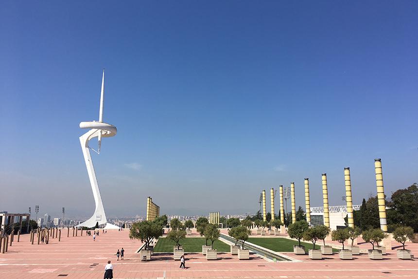 Anella Olímpica communicatietoren op Montjuïc in Barcelona