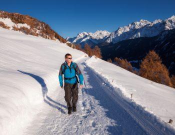 Winterwandeling Unterengadin Zwitserland