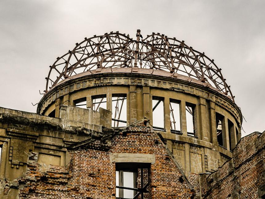 Het hypocentrum van de atoombom op Hiroshima