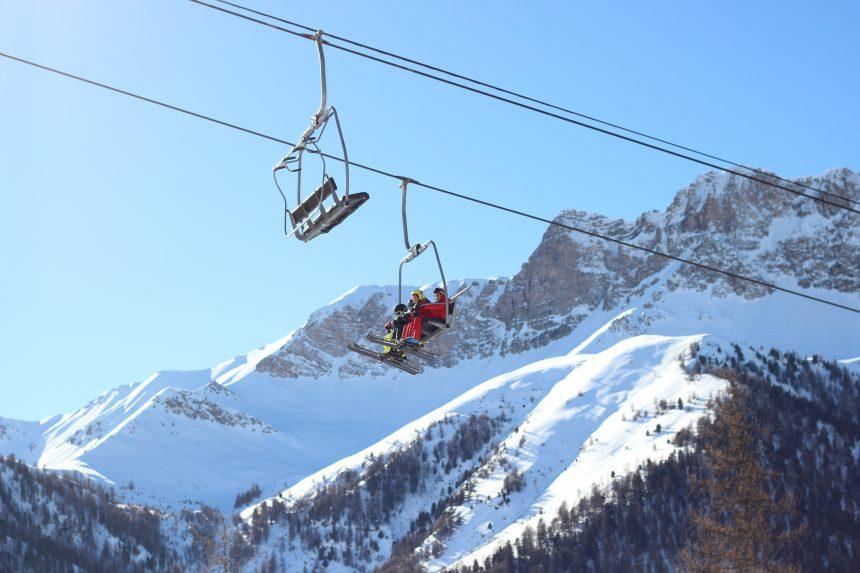 Skilift in Montgenèvre in Frankrijk