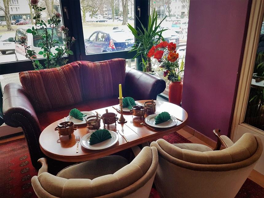 Aziatisch eten bij Maharani, een Indisch Ayuvedisch restaurant in Hamburg