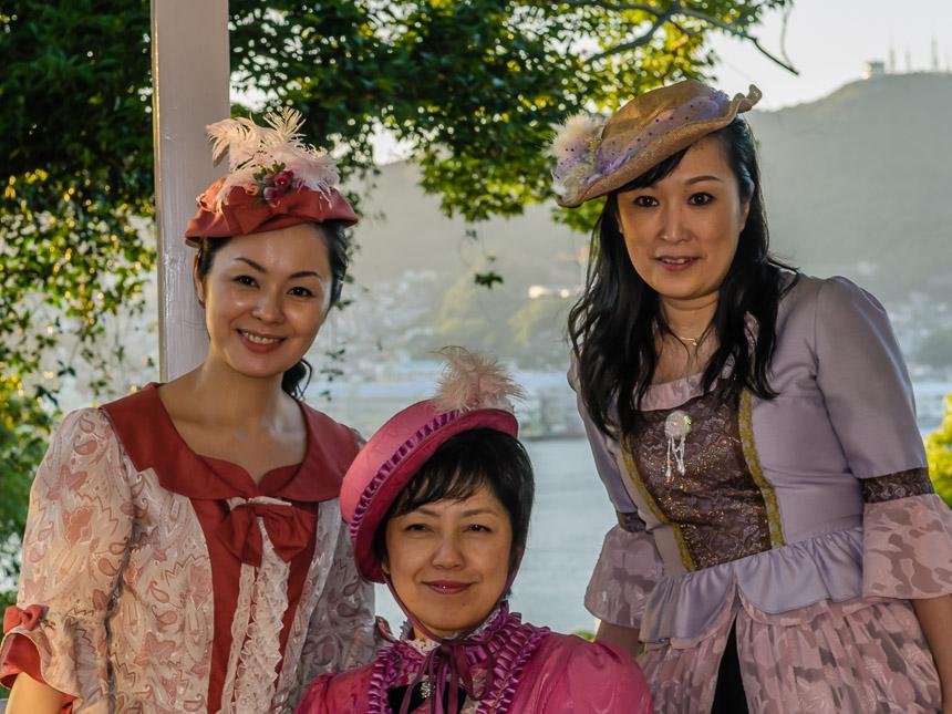 Japanse toeristen op Nagasaki