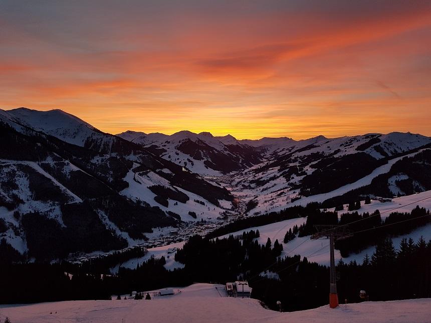 apres-ski in de Berger Alm in Saalbach