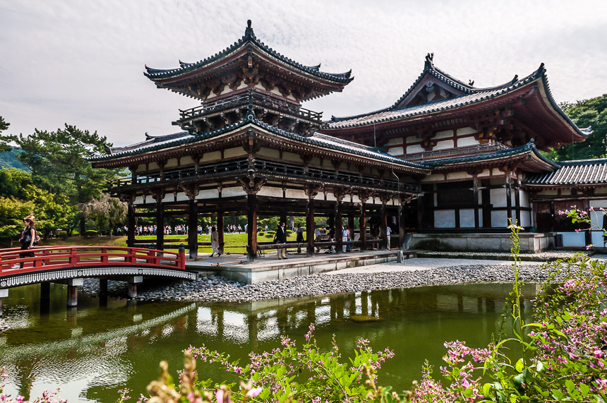 De Uji-Byodoin Tempel in Uji, Japan