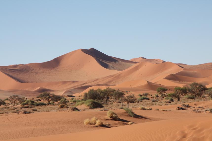Zandduinen van de Sossusvlei in Namibië