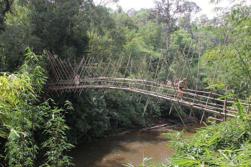 Hangbrug op Borneo