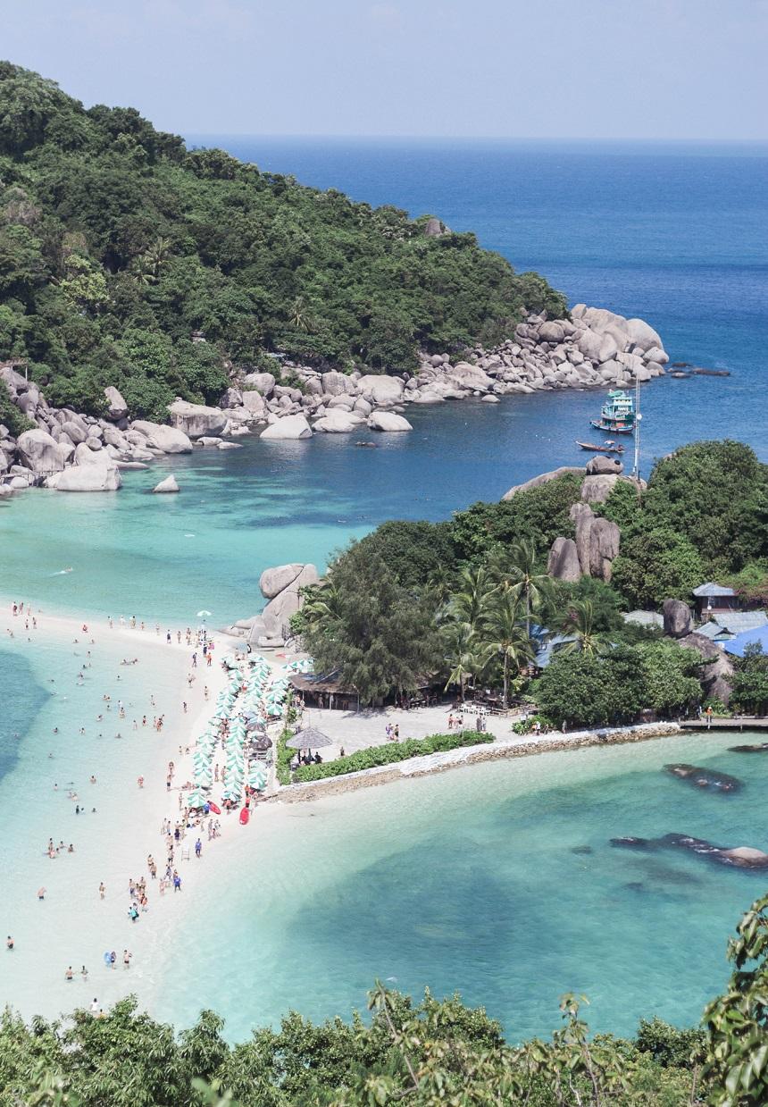Vlakbij Koh Tao ligt het kleine paradijs Koh Nang Yuan