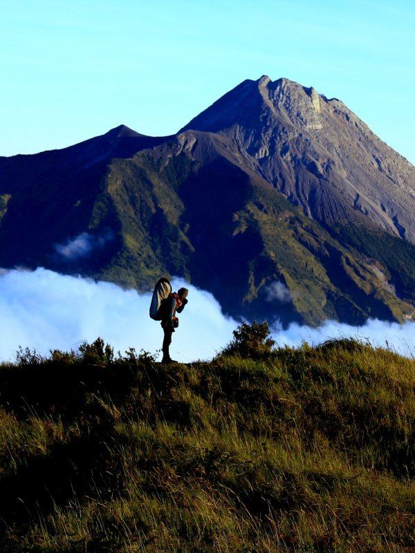 merapi en merbabu vulkaan indonesie