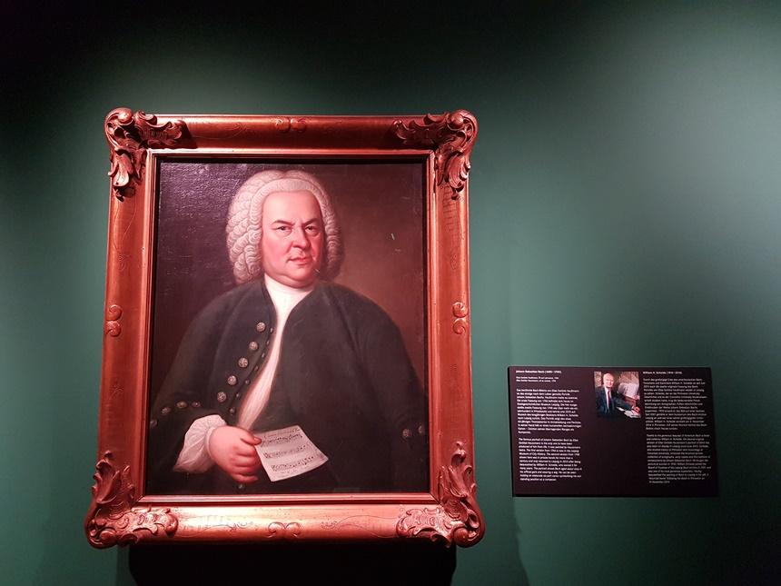 Schilderij van Johannes Sebastian Bach in het Bach Museum in Leipzig