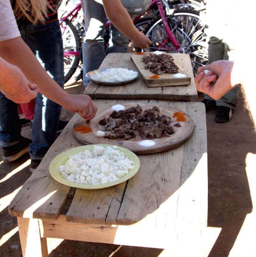 Koeienwang eten in Soweto