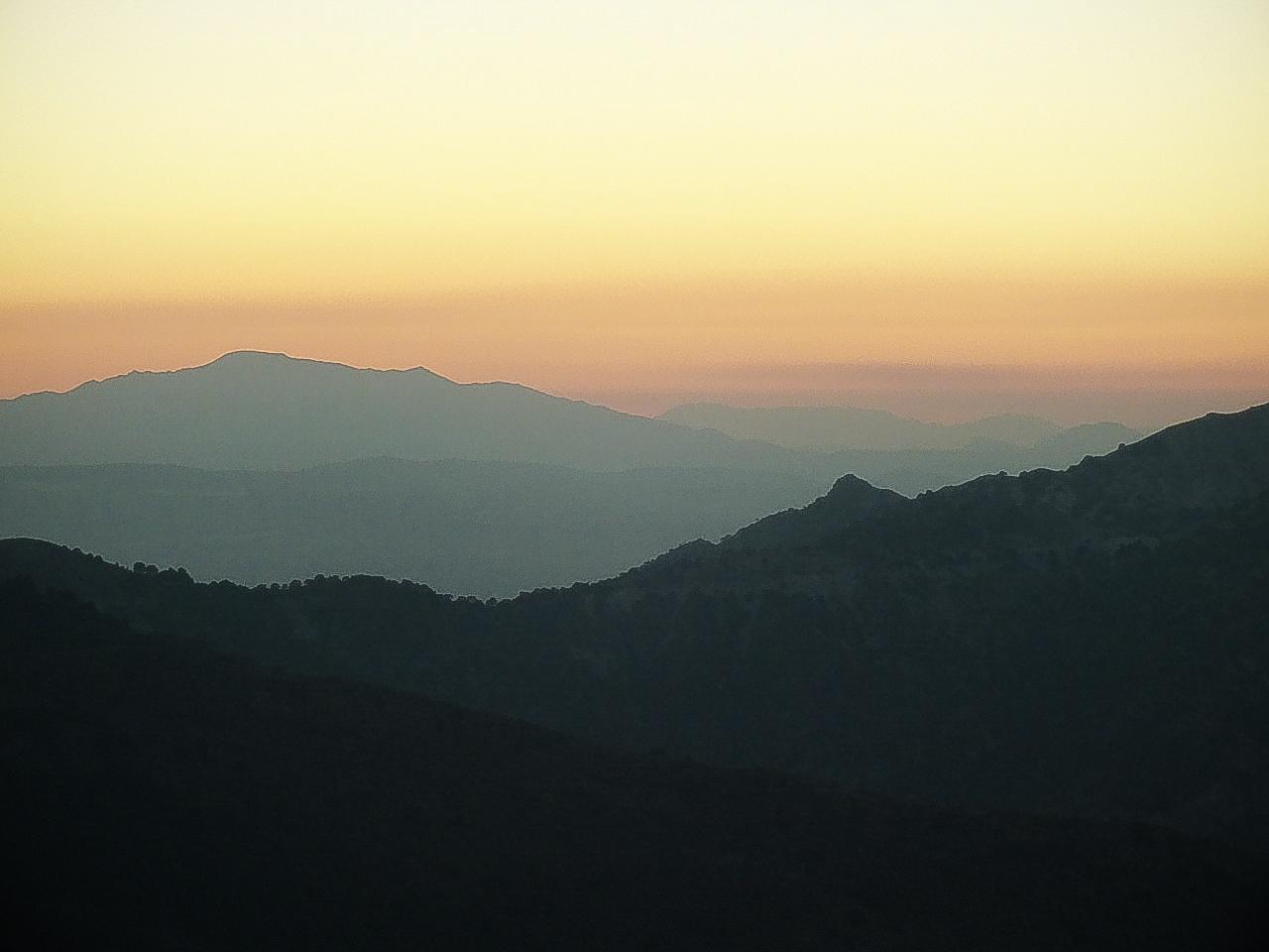 Ochtend in de Sierra Nevada