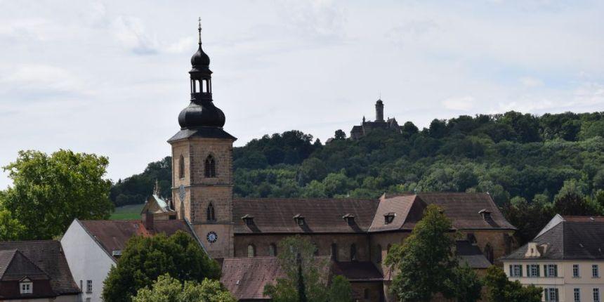 Uitzicht vanaf de Michaelsberg in Bamberg