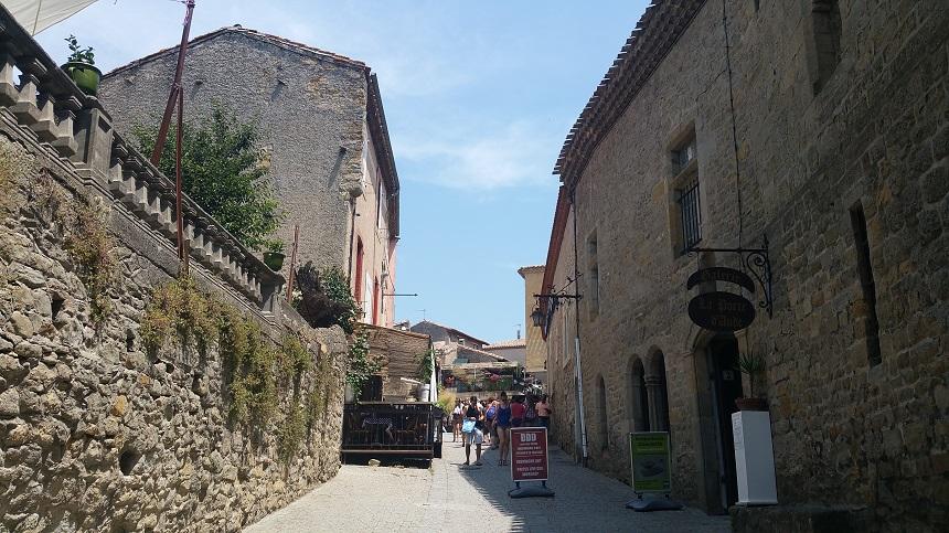 De middeleeuwse stad in Carcassonne