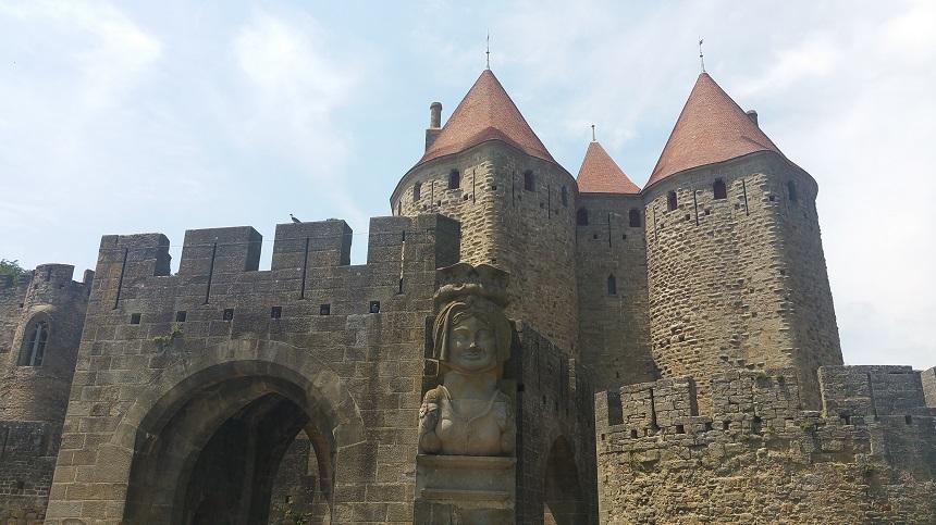 De ingang van de Cité van Carcassonne
