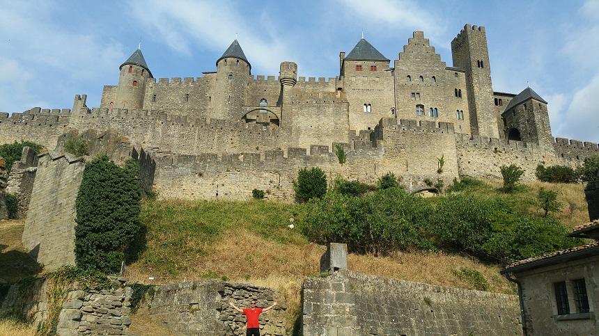 et Château Comptal, het kasteel binnen de muren van de Cité is enorm
