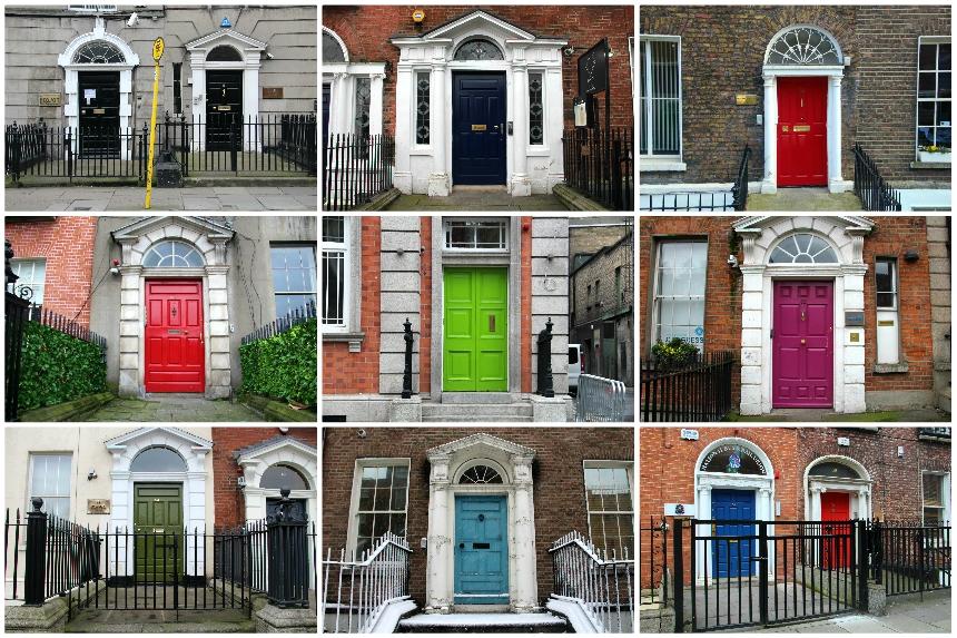 Doors of Dublin: overal in de stad vind je prachtige gekleurde voordeuren met sierbogen