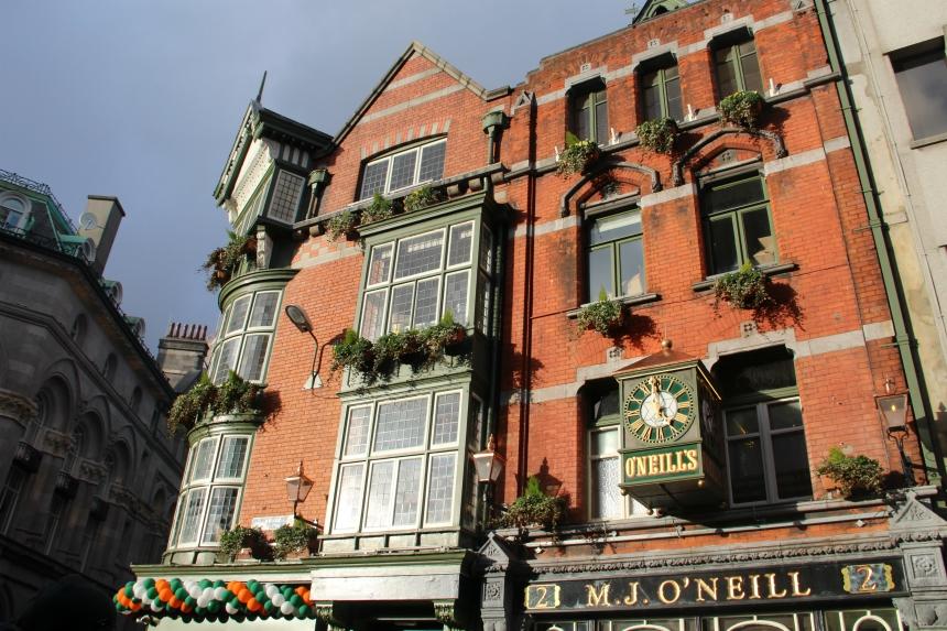 Het historische centrum van Dublin, de hoofdstad van Ierland