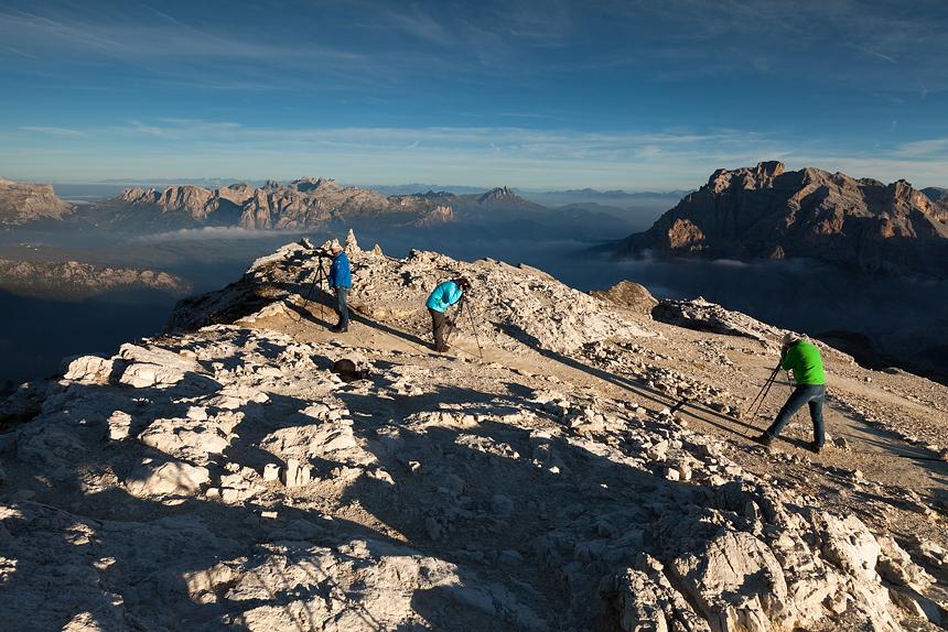 Fotograferen vanaf de top van Lagazuoi