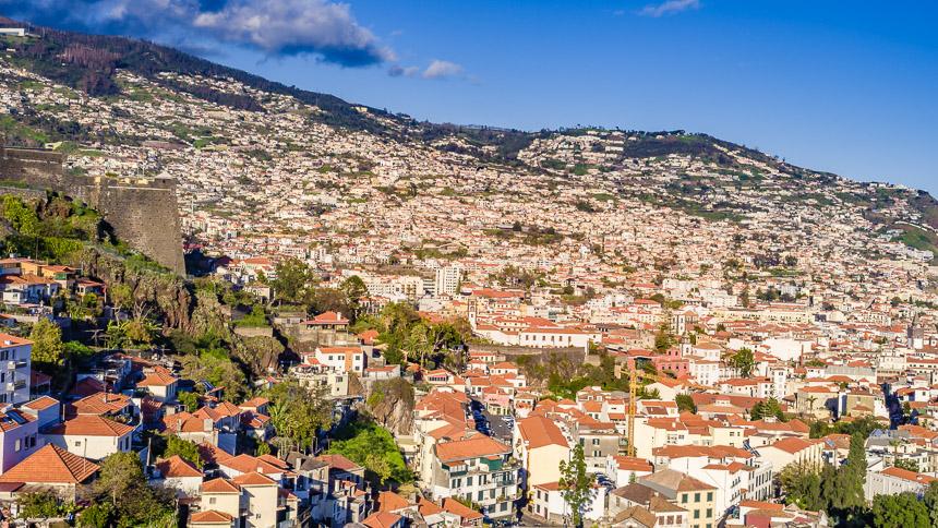 Gezicht op Funchal, Madeira