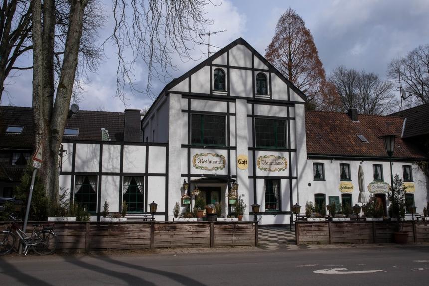 Het Bauenhaus aan de rand van het Aaper Wald