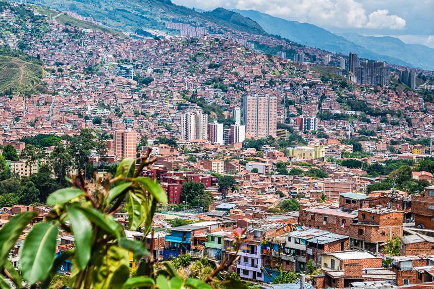 Medellin vanaf Comuna 13