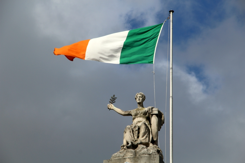 Ierse trots: op St. Patrick's Day wappert overal de Ierse vlag