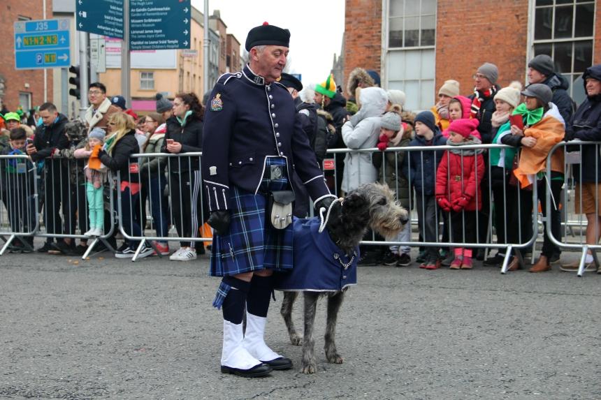 Zelfs dieren zetten hun beste beentje voor tijdens de parade