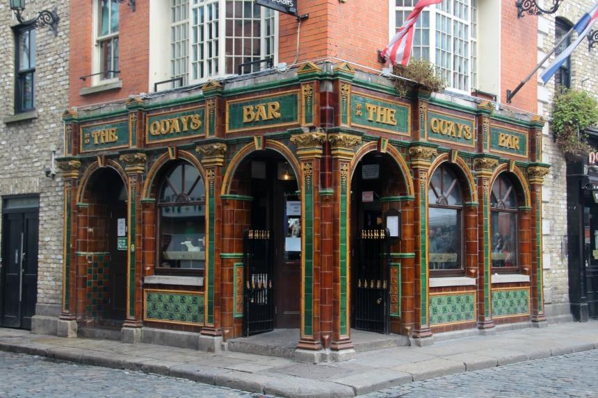 Temple Bar District is het uitgaansgebied van Dublin