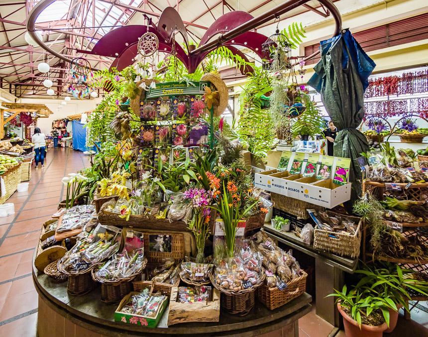 De Lavradores markt. Een ruimtelijkheid vol kleuren en geuren