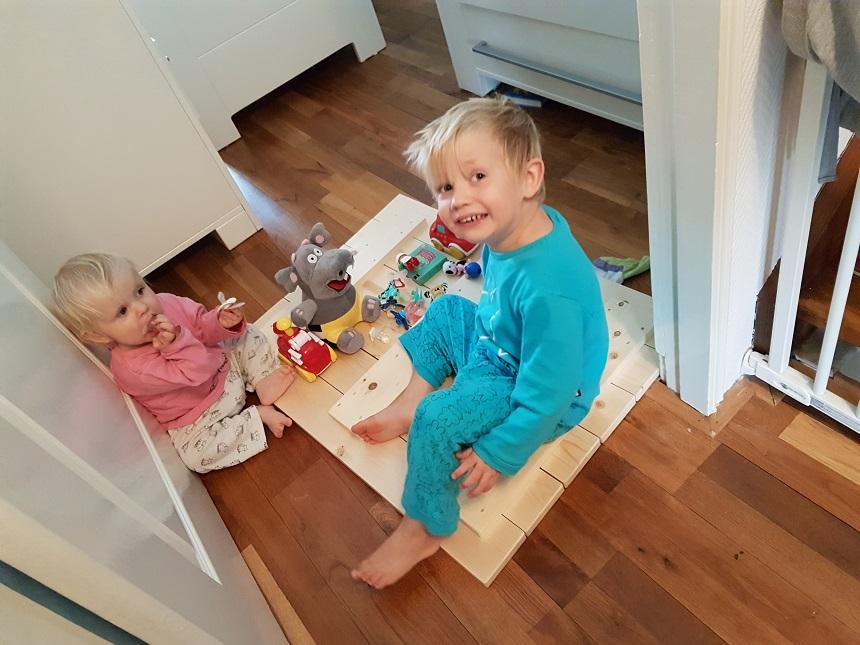 wereldkaart houten planken