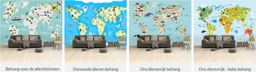 wereldkaarten behang
