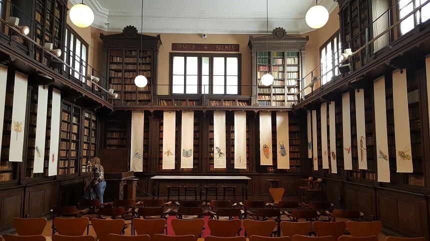 De imposante bibliotheek in Vilanova