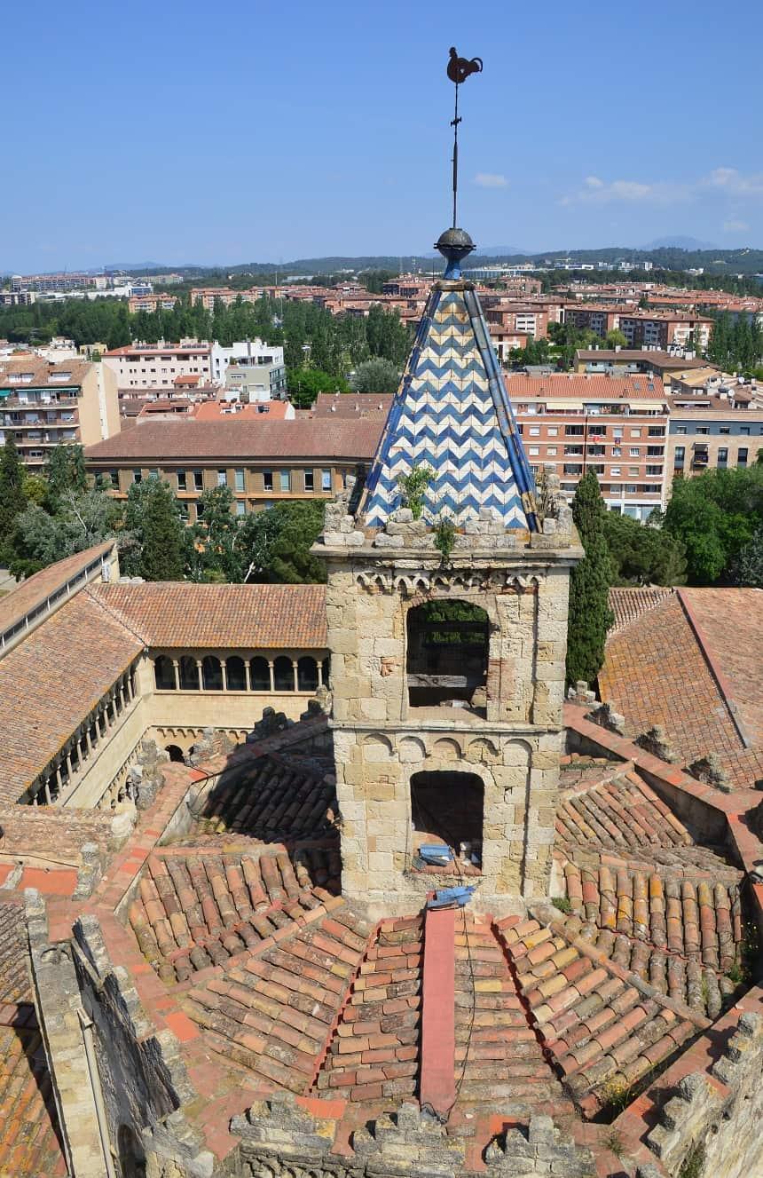 De toren van het klooster van Sant Cugat