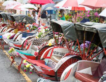 Penang per trishaw