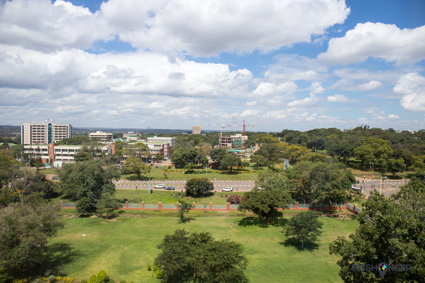 Lilongwe is een stad zonder hoogbouw maar wel uitgestrekt over een groot oppervlak