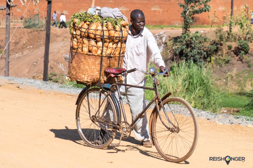 In Malawi weten ze op de fiets van alles te vervoeren