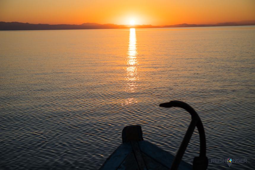 Zonsondergang Lake Malawi