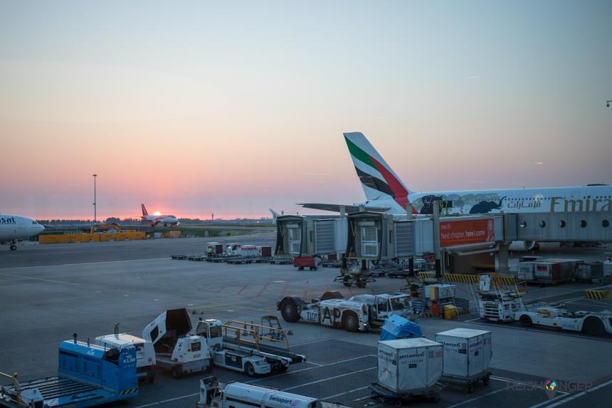 Nachtvlucht Amsterdam Dubai met Emirates