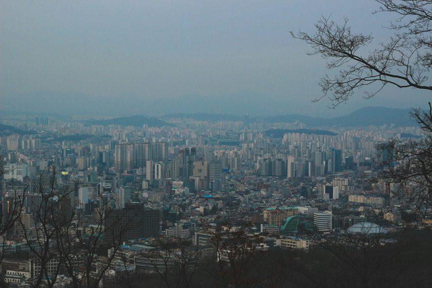 Uitzicht vanaf de N-Tower in Seoul