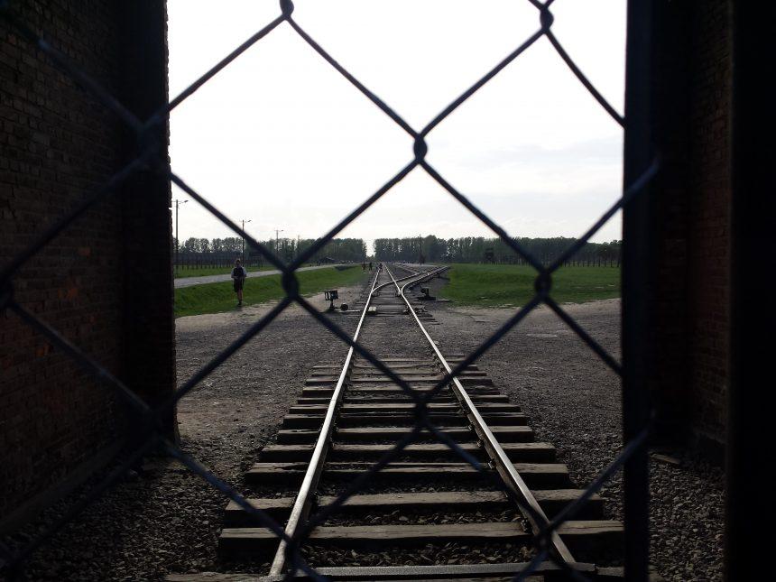 Het spoor bij Auschwitz-Birkenau