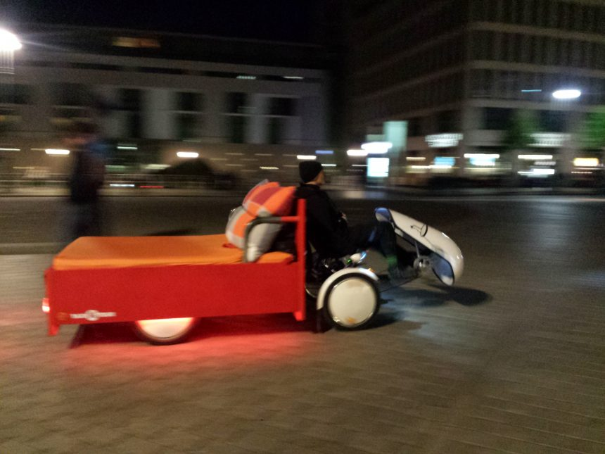 Bed-taxi in Berlijn