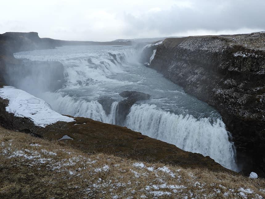 Gullfoss waterval in IJsland