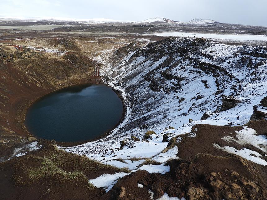 Krater Kerið in IJsland