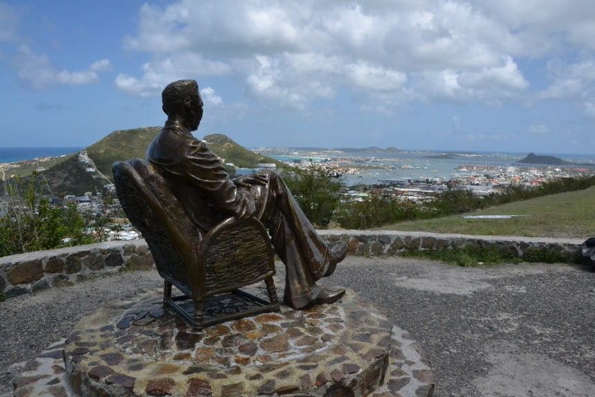 Beeld bij Simpson Bay op Sint Maarten