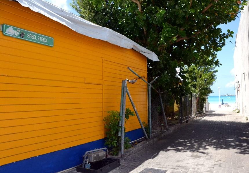 Straatnaambordjes op Sint Maarten