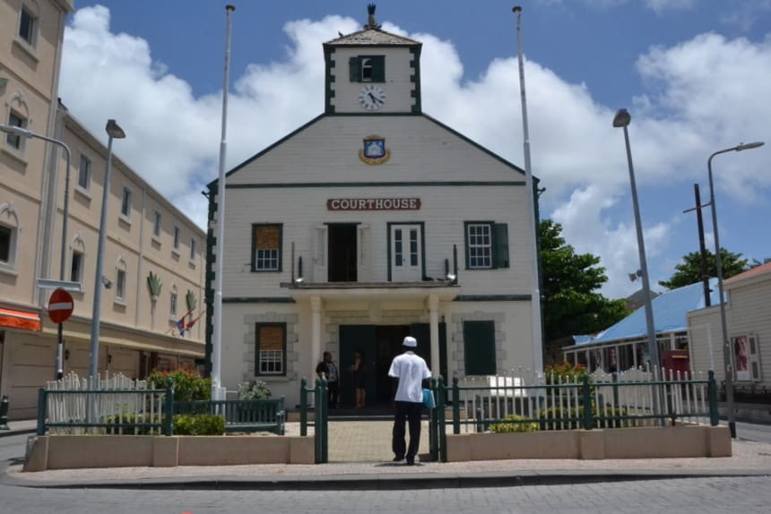 Courthouse in Philipsburg, Sint Maarten