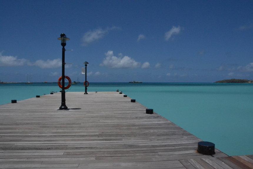 De pier bij Philipsburg op Sint Maarten