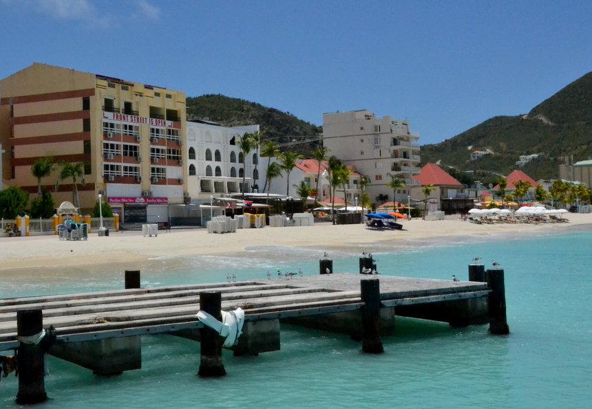 Frontstreet op Sint Maarten