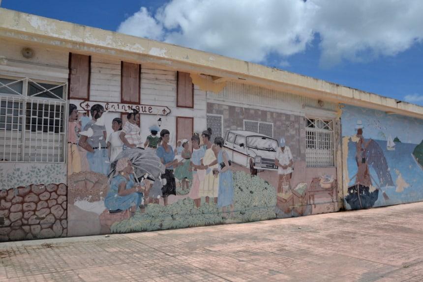 Muurschildering op Sint Maarten
