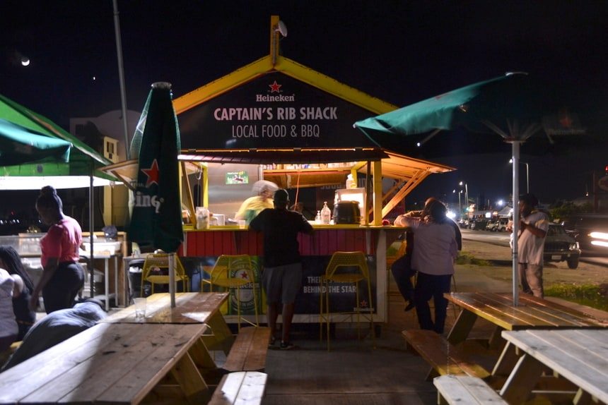 The Captain's Rib Shack op Sint Maarten